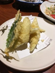 It is tempura of japanese fish KISU.