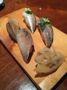 It is sardine sashimi imported from Japan.