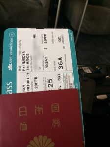 This time I will head to Bangkok by Vietnam Airlines.