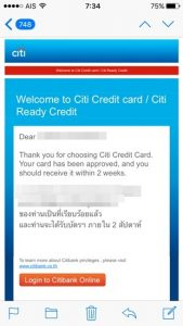 Credit card seems to arrive within 2 weeks.