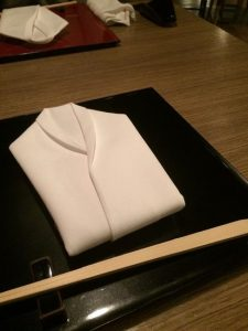 fashionable napkin.