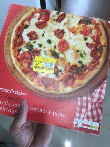 冷凍のピザ